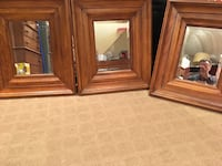 Pottery Barn Three brown wooden framed mirrors Port Jefferson Station, 11776