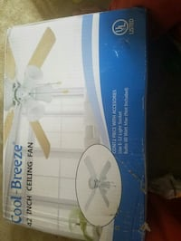 white and blue and white ceiling fan box Ashburn, 20148
