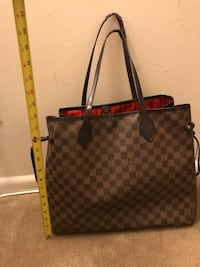 Black and brown louis vuitton leather tote bag Old Bridge Township