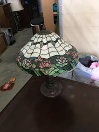 white, green, and red tiffany lamp Ogden