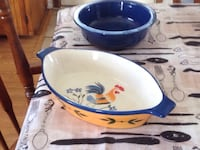 white and blue ceramic bowl Longueuil, J3Y 1H5