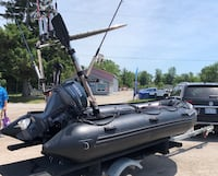 2014 Inflatable Boat & motor and trailer Caledon, L7C 3P9