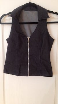 Women's Zip-Up Jean Jacket Vest - Size Small Edmonton