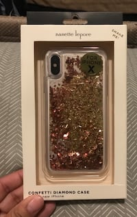 Brand new iPhone X clear confetti diamond case you can shake it !! New York, 10468