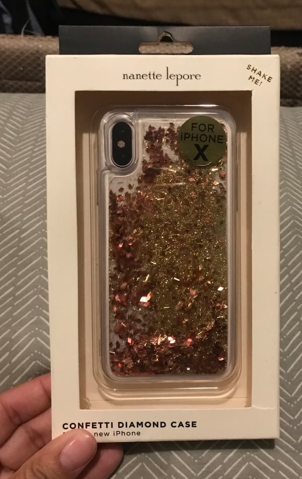 Brand new iPhone X clear confetti diamond case you can shake it !! 0