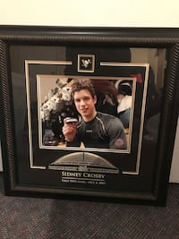 Sidney Crosby autographed frame 1st goal
