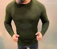 men's green and black striped sweater Vaughan, L4L 5W2