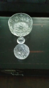 Crystal bowl and wine decanter