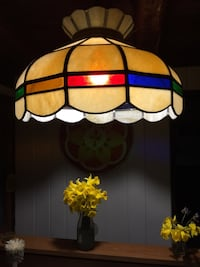 Stained glass hanging lamp (great for over a pool table or bar) Columbia, 21045