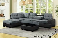 Reversible Sectional with Storage Ottoman  1201 mi