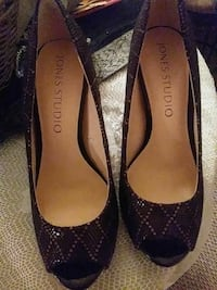 Brown Shoes with Gold line Design Newport News, 23607