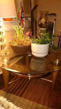 Heavy Round Glass Table