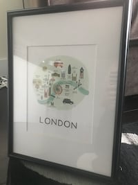 London Print with Ikea Frame Toronto, M3H 2T7