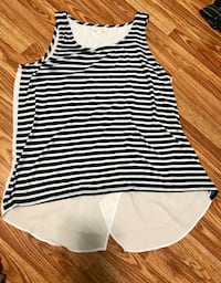 Women's size L blue and white dress tank top