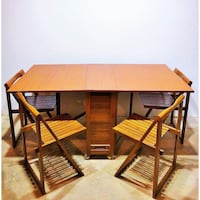 Mid century Teak folding table and 4 chairs Vancouver, V6A 3G5
