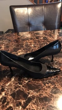 pair of black leather pumps Bel Air, 21014