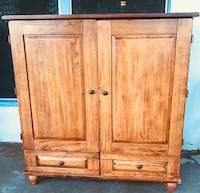 Strong sturdy wood Tv/ Amoire. Pick up in Riverside