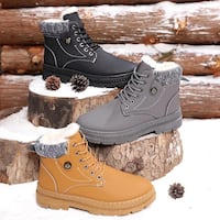 Men's waterproof leather snow boots size 8 to 11 brand new Montréal, H1G 2Z6