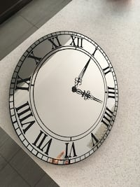 Modern Wall Clock in Mirror Kleinburg, L4H 4A3