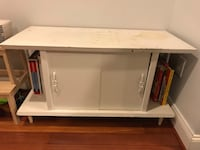 white and brown wooden TV stand Baltimore, 21230