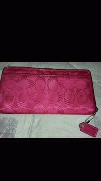 red monogrammed Coach leather wristlet Las Vegas, 89169