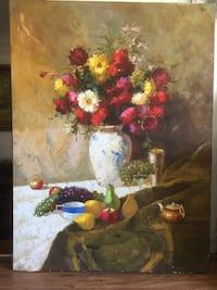 Large vintage original oil painting Still Life 科奎特兰