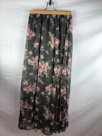 black and pink floral spaghetti strap dress Edmonton, T5T