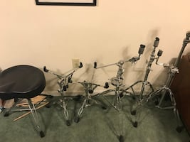 Pearl, PDP, Sound Percussion Labs Drum hardware, stands, drum throne