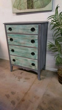 Rustic Beachy CHEST DRESSER  Huntington Beach