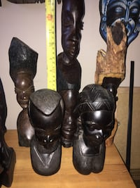 5 wooden African heads Calgary, T2Y