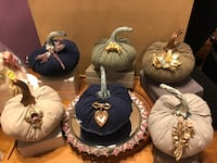 Gorgeous!!! Velvet Pumpkins with Variety of Pretty Brooch pins Gainesville, 20155