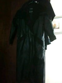 "FOR SALE - [ WILSONS ] ""BLACK LEATHER DUSTER""  Dallas, 75212"