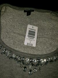 silver-colored chain necklace sweater top Toronto, M5T 2K5