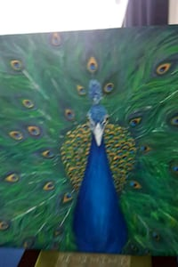 40x30 inches Handpainted peacock acrylic painting  Vaughan, L4J 5S3