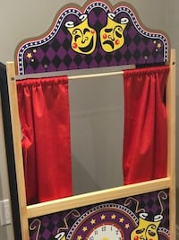 Melissa and Doug Puppet Theatre & 2 Stick Puppets