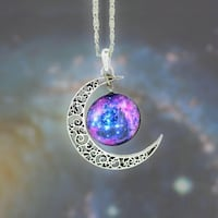 silver-colored and purple gemstone pendant necklace Germantown, 20874