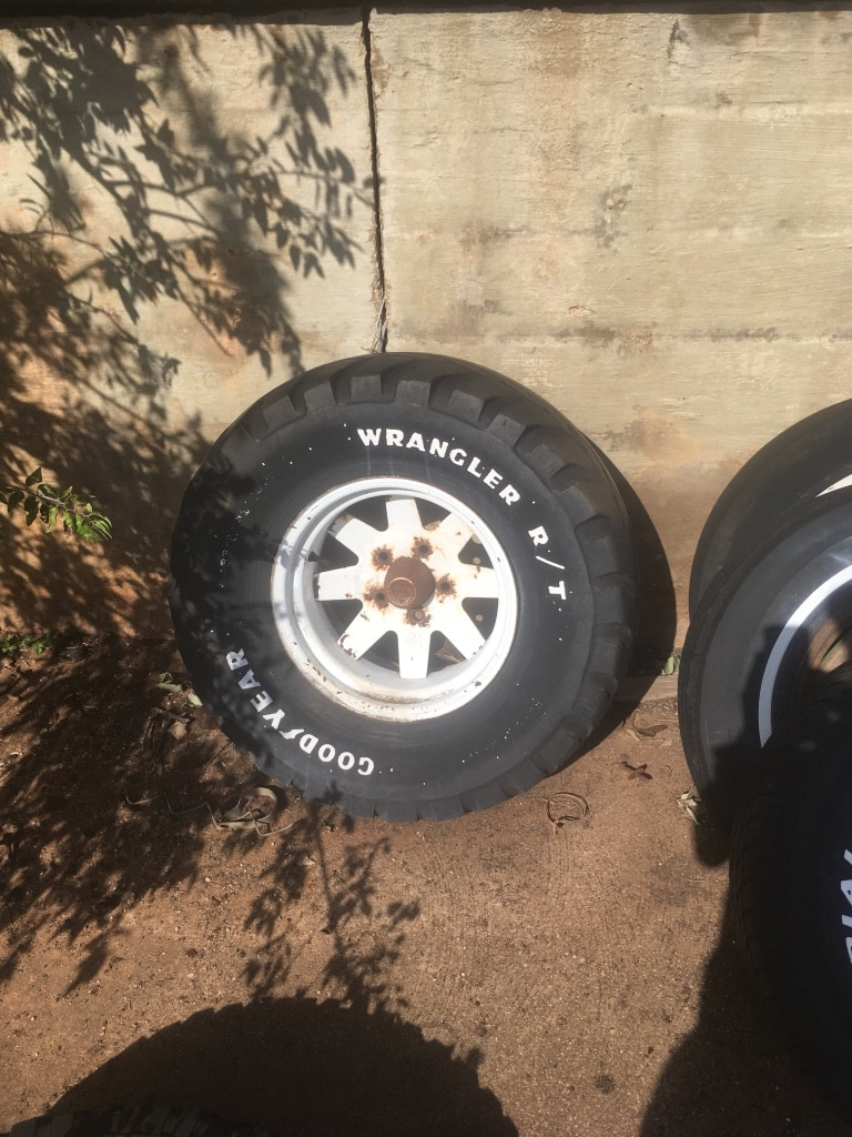 Photo Wagon wheels from 70's ..15 rims. Have two
