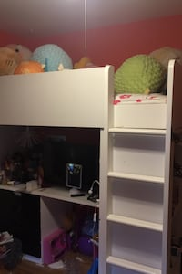 IKEA loft twin bed desk/ shelves/ closet