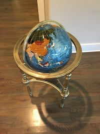 Mother of Pearl Blue Oyster Floor Globe Charlotte, 28205