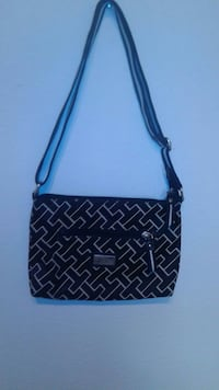 black and white leather crossbody bag Modesto, 95355