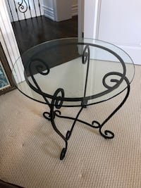 Glass end table Vaughan