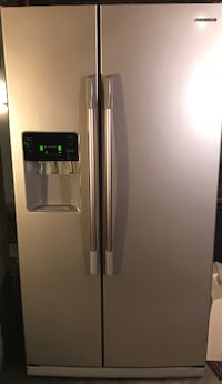 gray side-by-side refrigerator with dispenser Chevy Chase