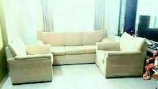 Light brown fabric sofa (3+1+1)