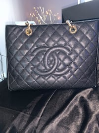 AUTHENTIC CHANEL Black Caviar GST Grand Shopping Tote Toronto, M4Y