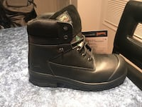 Pair of black leather work boots Calgary, T3C 0K2