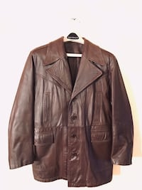 Woman's Brown Leather Jacket- size Large Oklahoma City, 73132
