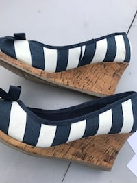 navy blue and white wedges Las Vegas, 89123