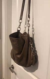 Large authentic rebecca minkoff cross body bag ~ taupe/grey leather ~ retails $550+ Surrey, V4N 6A2
