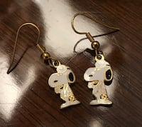 Vintage 1970s Snoopy Doctor Earrings Nottingham, 21236