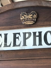 1930's English Walnut Telephone Booth.